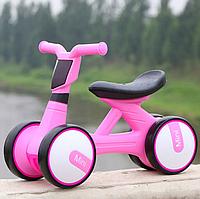 Детский мотоцикл каталка-толокар Bambi M 4086-8 музыка свет розовый