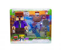 "Конструктор фигурка ""My World Minecraft"" (фиолетовый), XUJA, майнкрафт,minecraft,лего,конструкторы майнкрафт"