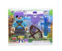 """Конструктор фигурка """"My World Minecraft"""" (голубой), XUJA, майнкрафт,minecraft,лего,конструкторы майнкрафт"""