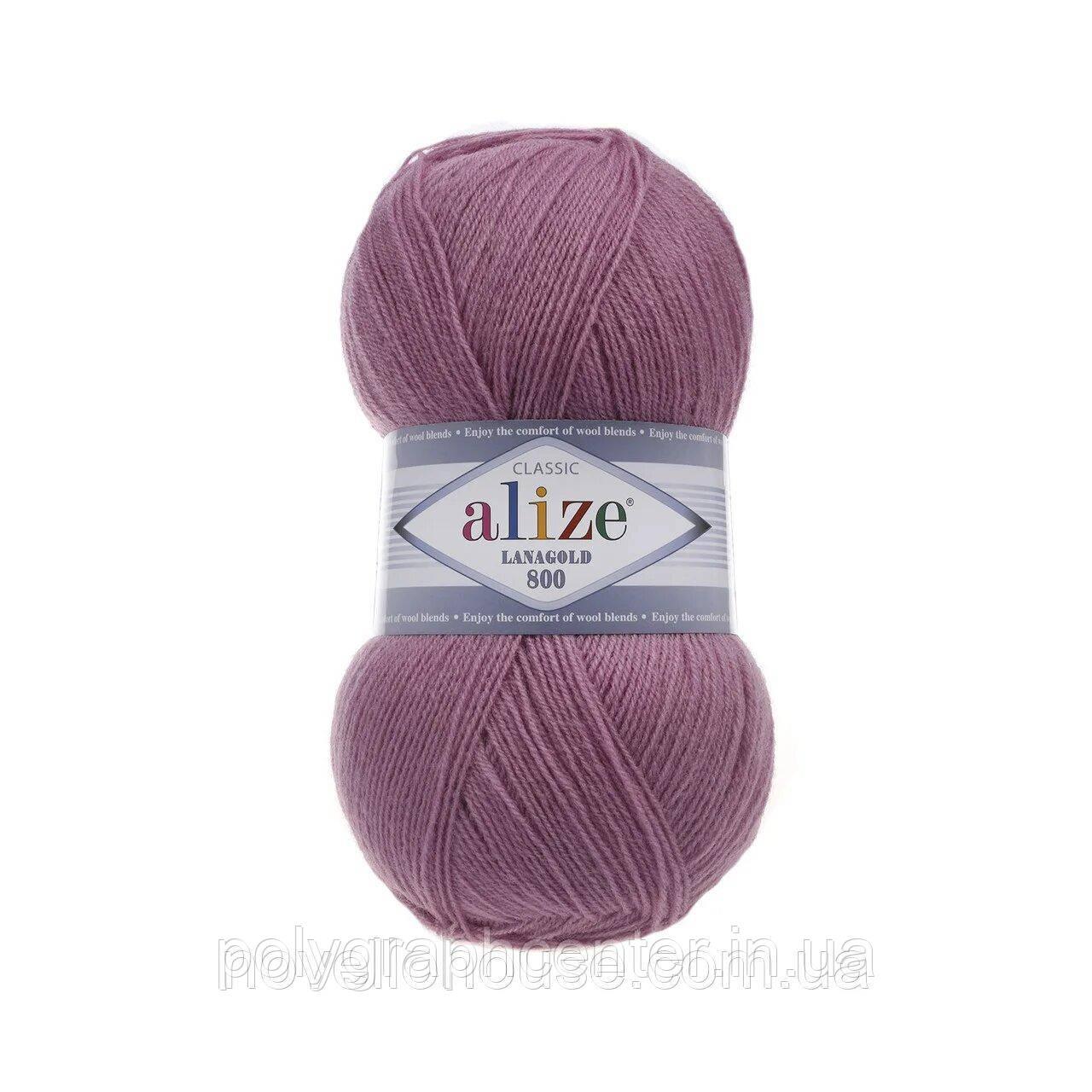 Пряжа для вязания Alize Lanagold 28 роза
