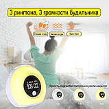 Световой будильник с Bluetooth колонкой., фото 5