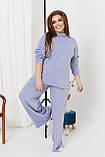Жіночий костюм стильний з кофтою і штанами з ангори (Батал), фото 3