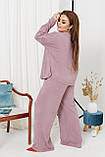 Жіночий костюм стильний з кофтою і штанами з ангори (Батал), фото 6