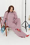 Жіночий костюм стильний з кофтою і штанами з ангори (Батал), фото 5