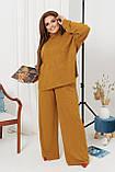 Жіночий костюм стильний з кофтою і штанами з ангори (Батал), фото 7
