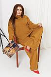 Жіночий костюм стильний з кофтою і штанами з ангори (Батал), фото 8