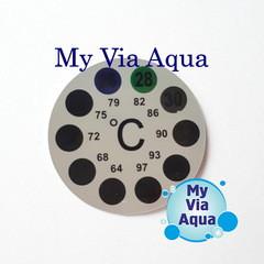 Термометр Наклейка на жидких кристаллах, круглый