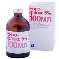 ЭНРОФЛОКС 5% антибактериальный инъекционный препарат, 100 мл