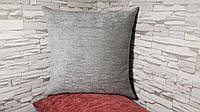 Подушка декоративная  40х40 серая, фото 1