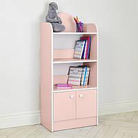 Домик этажерка стеллаж полка для игрушек и книг BW 207-8 розовый