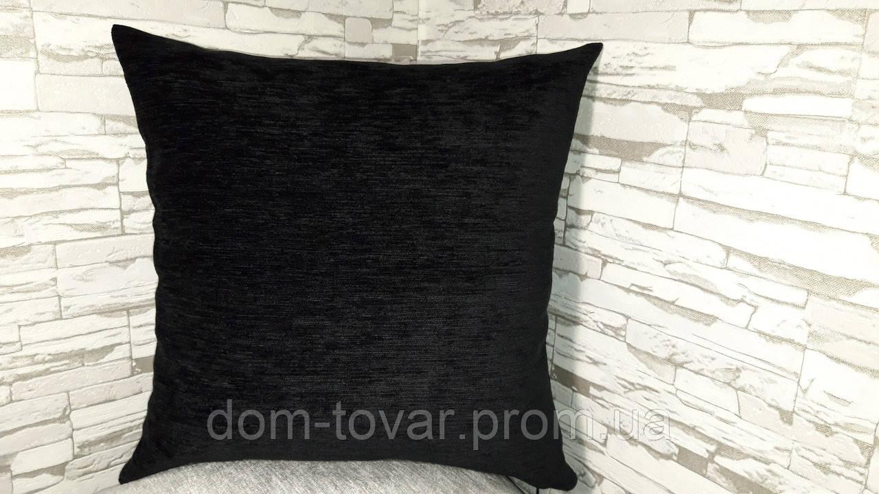 Наволочка декоративная 45х45 черная