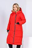 Зимнее пальто женское Плащевка на синтепоне Размер 44 46 48 50 52 54 56 58 В наличии 3 цвета, фото 6