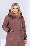 Зимнее пальто женское Плащевка на синтепоне Размер 44 46 48 50 52 54 56 58 В наличии 3 цвета, фото 7