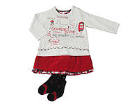 Комплект: Джемпер, юбка и колготы Losan Mc baby girls (028-8029AD/500) Сливочно-Белый M6-68 см
