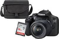 Фотоаппарат Canon EOS 2000D kit (18-55mm) + SB130