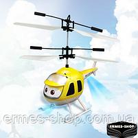 Летающая игрушка вертолет Air Plane UFT индукционный ручной JM-988 | Желтый, фото 2