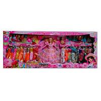 Кукла типа Барби YT2136 для девочки с нарядами (платья, сумочки, аксессуары) и 2 дочки