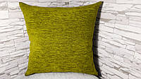 Наволочка декоративная 45х45 зеленая, фото 1