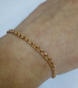 Золотой браслет из красного золота Бисмарк