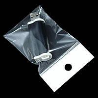 Пакеты полипропиленовые с еврослотом и клейкой лентой 12 x 12 см / (уп-100 шт), фото 1
