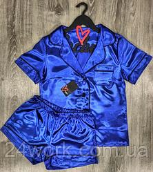 Женская яркая пижама,рубашка и шорты