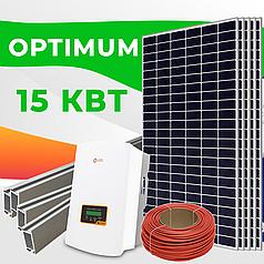 """Солнечная электростанция 15 кВт под Зеленый тариф """"ОПТИМУМ"""""""