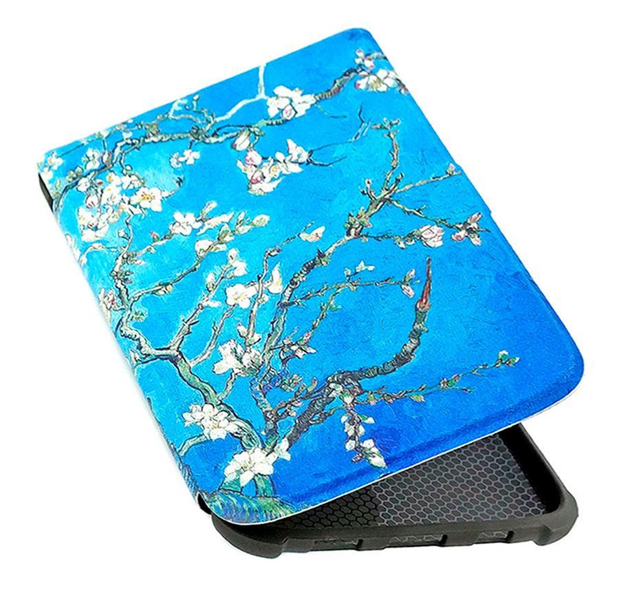 Обкладинка PocketBook 628 Touch Lux 5 - малюнок Колір Мигдалю - чохол на Покетбук