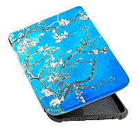 Обкладинка PocketBook 628 Touch Lux 5 - малюнок Колір Мигдалю - чохол на Покетбук, фото 1