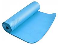 Коврик для йоги Power System Fitness Yoga Голубой цвет