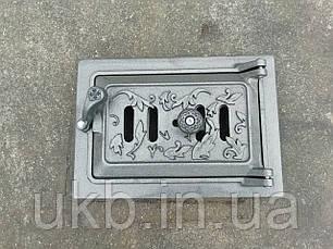 """Піддувальна дверцята 265*185 мм """"ДУБ"""" з піддувом, фото 2"""