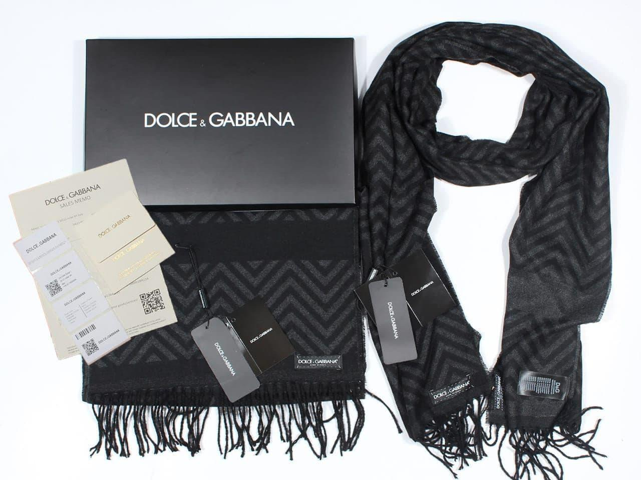Шарф Dolce&Gabbana CK1565 черный