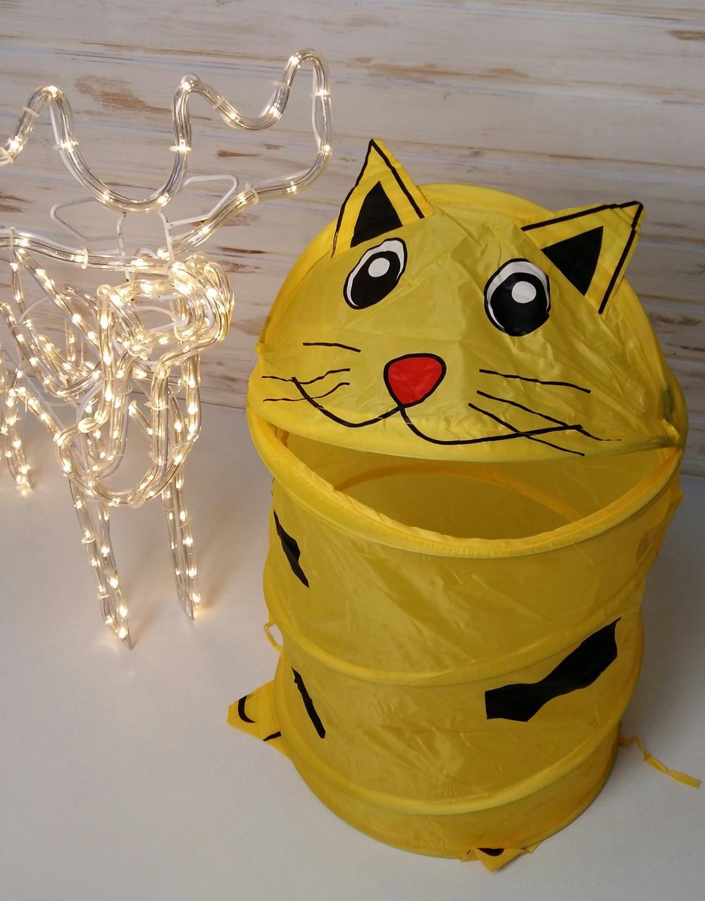 "Корзина для игрушек ""Животные"" Желтый кот М 1039"