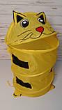 """Корзина для игрушек """"Животные"""" Желтый кот М 1039, фото 2"""
