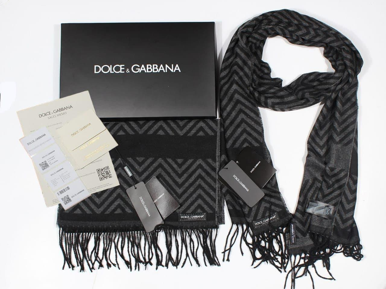 Шарф Dolce&Gabbana CK1566 черный