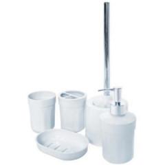 Набор аксессуаров для ванной Eco Fabric MOON (5 предметов) TRL-1251-SW белый