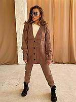 Женский вязанный прогулочный костюм, фото 1