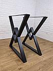 """Ножки металлические """"Delta"""" для стола в черном цвете, фото 2"""