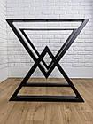 """Ножки металлические """"Delta"""" для стола в черном цвете, фото 4"""