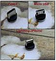 Магнитный зарядный кабель USB 2метр KUULAA для всех моделей смартфонов, фото 2