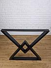 """Ножки металлические """"Delta"""" для стола в черном цвете, фото 6"""