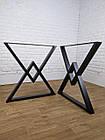 """Ножки металлические """"Delta"""" для стола в черном цвете, фото 7"""