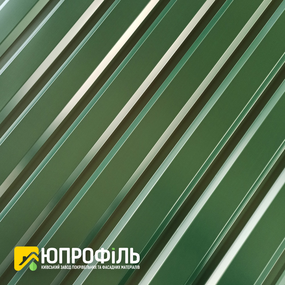 ПС-20 Профнастил для забора Зеленый RAL 6005 0.40 мм.
