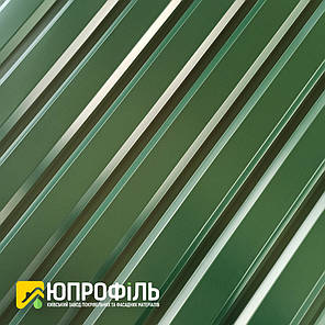ПС-20 Профнастил для забора Зеленый RAL 6005 0.40 мм., фото 2