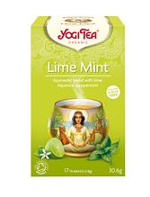 """Чай трав'яний з прянощами """"Лайм-М'ясного м'ята"""", Yogi Tea, 1,8 м"""