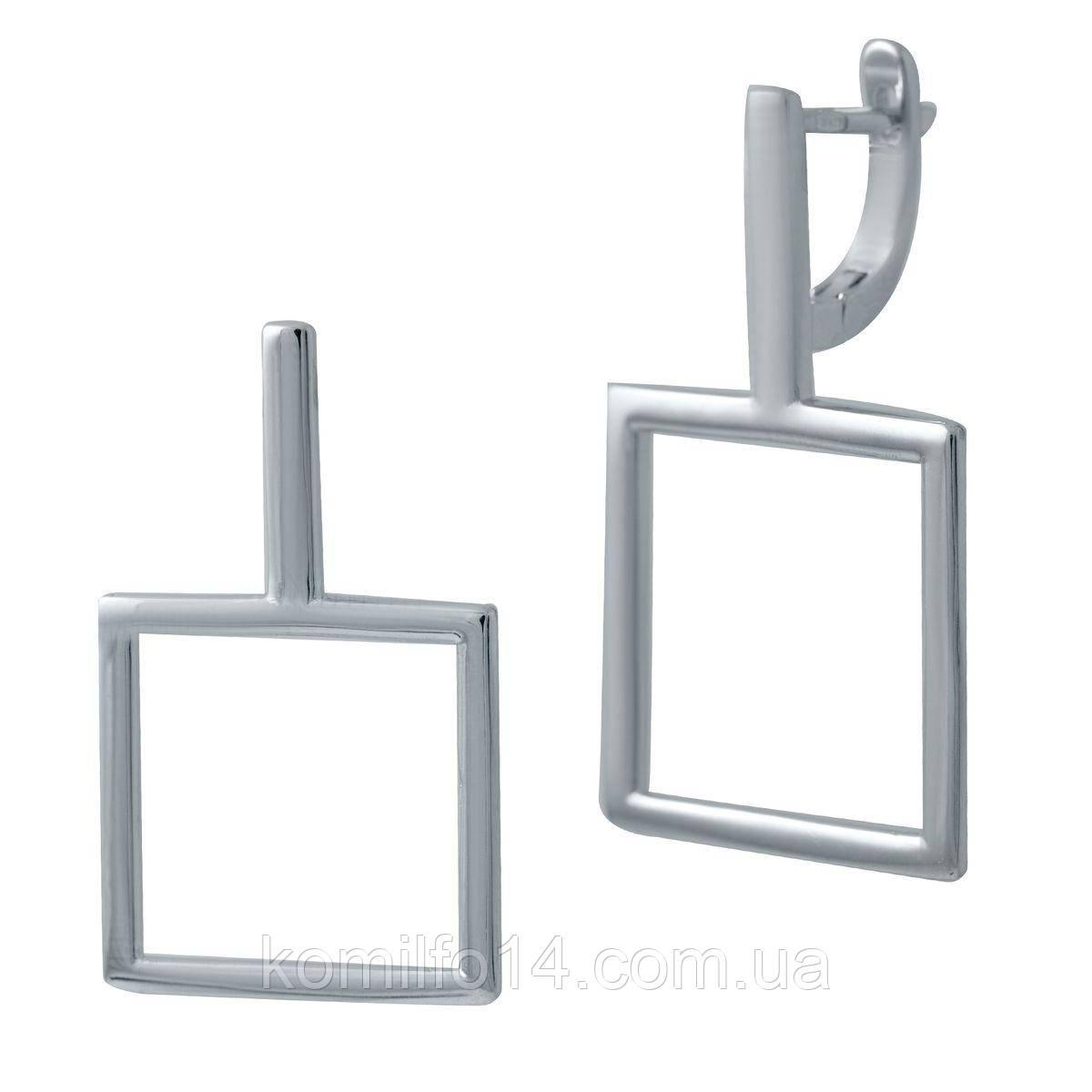 Серебряные серьги Komilfo без камней (2029731)