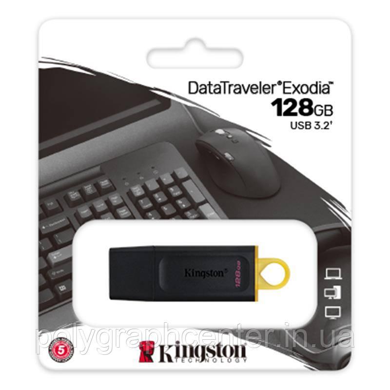 Флеш-накопитель Kingston DT Exodia 128GB USB 3.2 Black/Yellow
