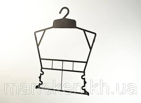 """Вешалка-рамка для одежды TREMVERY """"Рамка детская"""" черная Z, фото 2"""