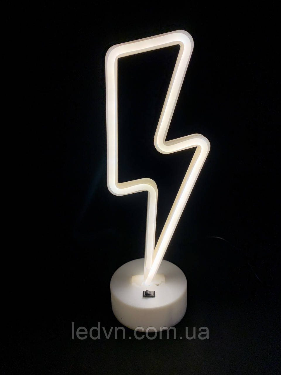 Неоновий світильник - нічник Блискавка