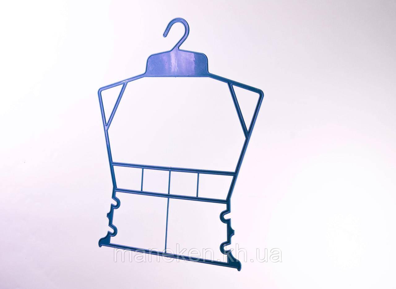 """Вешалка-рамка для одежды TREMVERY """"Рамка детская"""" синяя P2color"""