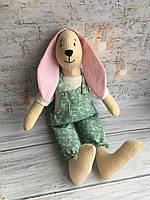 """Мягкая игрушка ручной работы из льна """"Заяц"""" 30 см hand made, фото 1"""